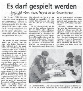 Westfalenblatt Minden Luebbecke vom 13.05.2015