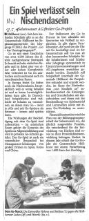 Neue Westfalische Minden-Luebbecke vom 12.05.2015